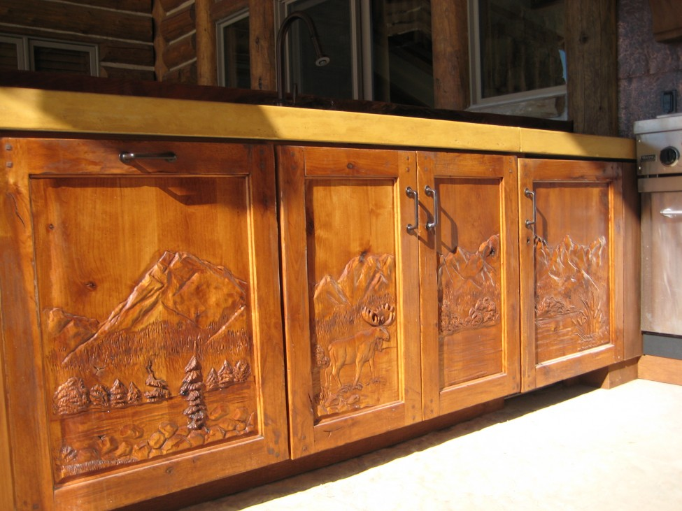 Carved kitchen cabinets mf cabinets for Carved kitchen cabinets